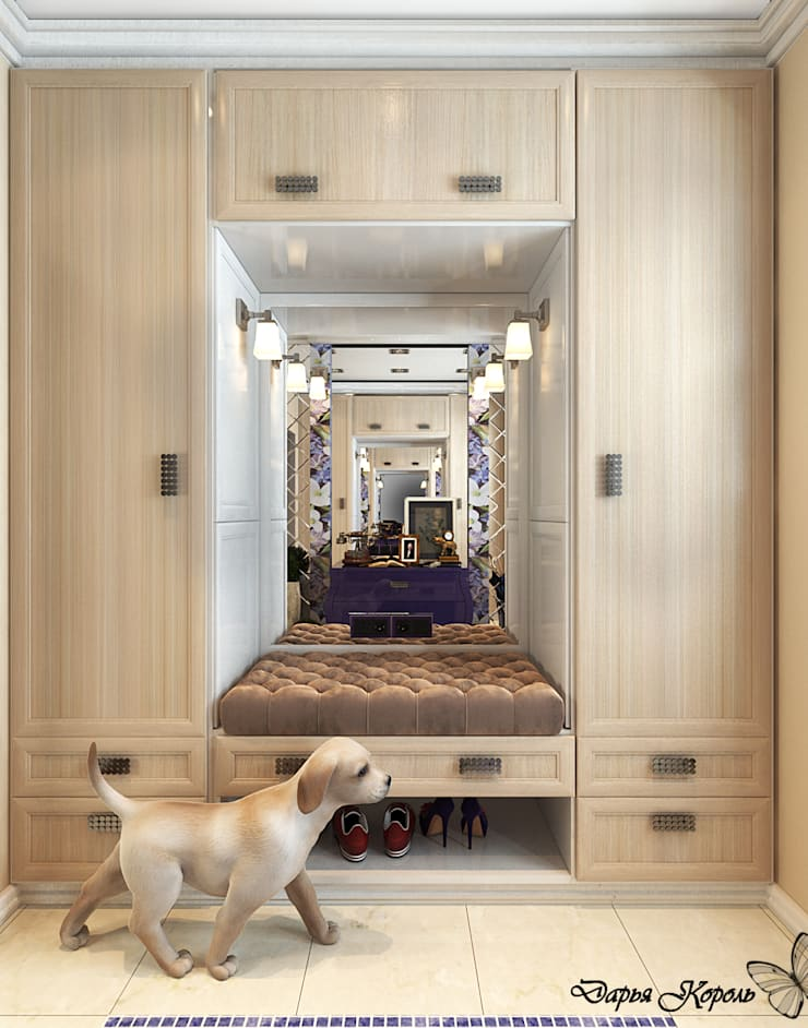 Eclectic style corridor, hallway & stairs by Your royal design Eclectic