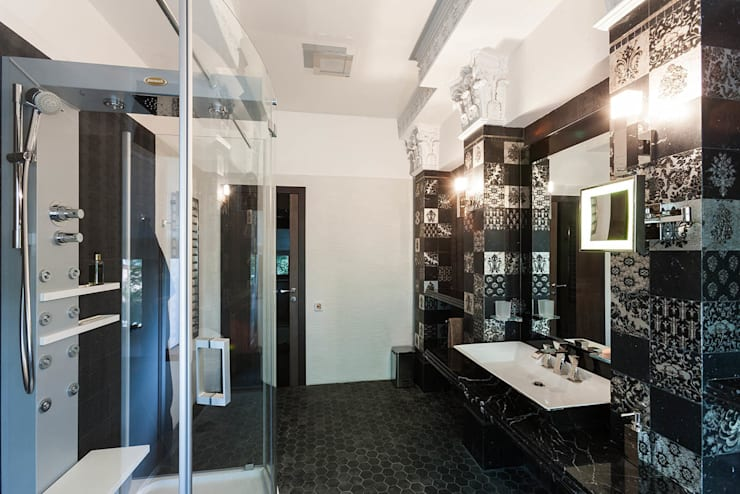 Офис с камином.: Ванные комнаты в . Автор – Дизайн интерьера Проценко Андрея
