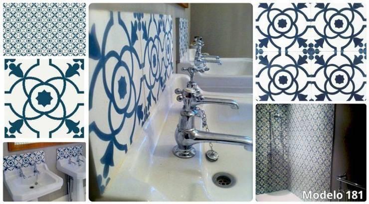 Ejemplos de nuestras baldosas: Baños de estilo  de Suelos Hidráulicos Demosaica