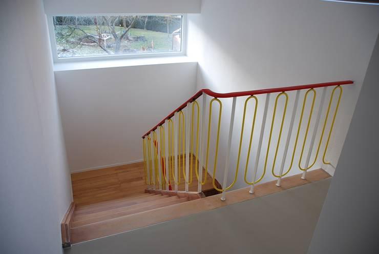 Treppenhaus nach der Sanierung:  Flur & Diele von architektur plan b