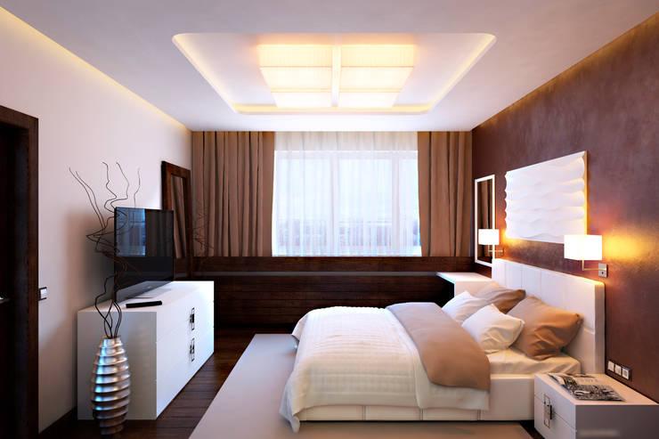 Квартира в ЖК «Александрия»: Спальни в . Автор – Geometrium