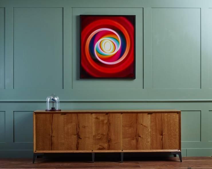 Five door oak credenza:  Living room by muto