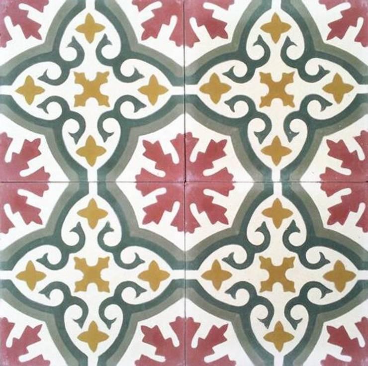 Suelo Hidráulico - Floral:  de estilo  de Suelos Hidráulicos Demosaica