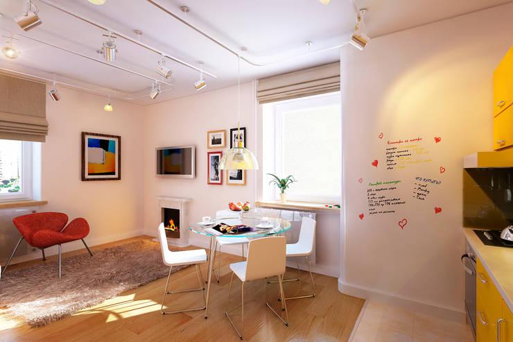 Living room by Geometrium