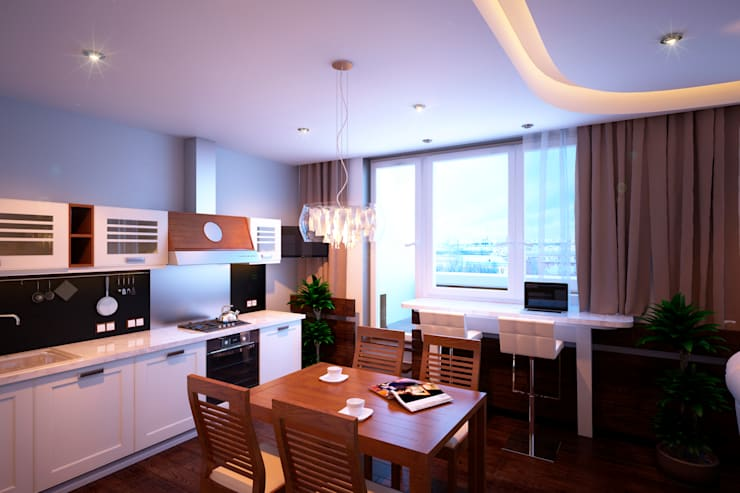 Квартира в ЖК «Александрия»: Кухни в . Автор – Geometrium