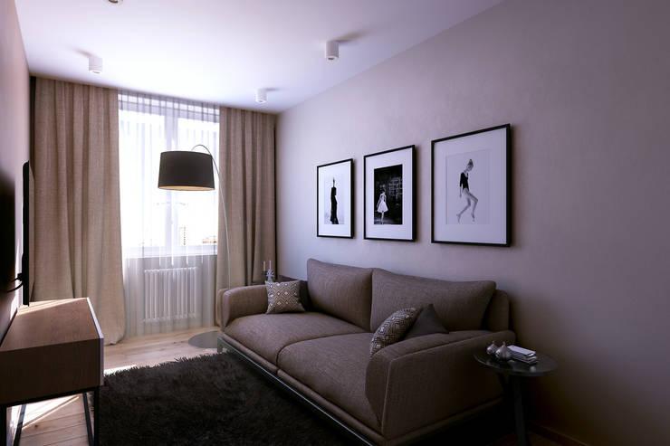 Квартира на Богатырском: Гостиная в . Автор – Geometrium
