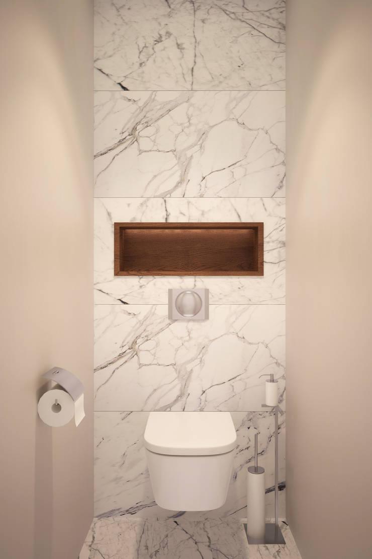 Квартира на Богатырском: Ванные комнаты в . Автор – Geometrium
