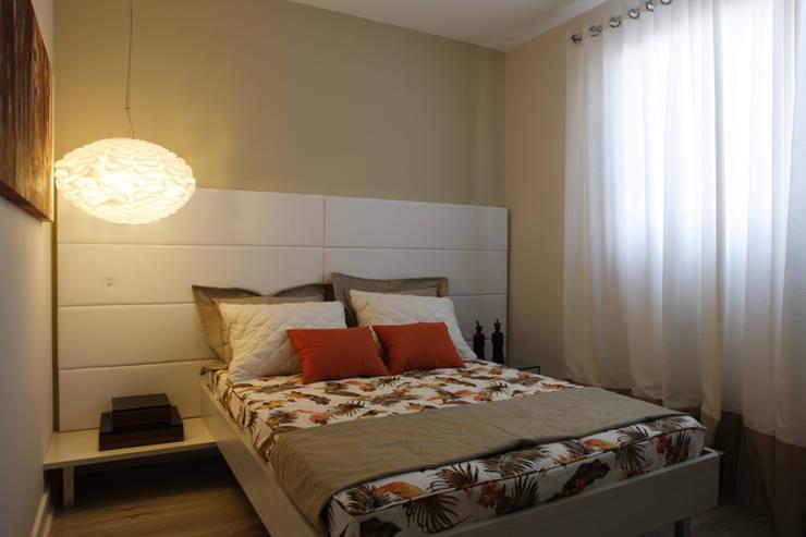 Projeto arquitetônico do apartamento decorado Platanos: Quartos  por ArchDesign STUDIO