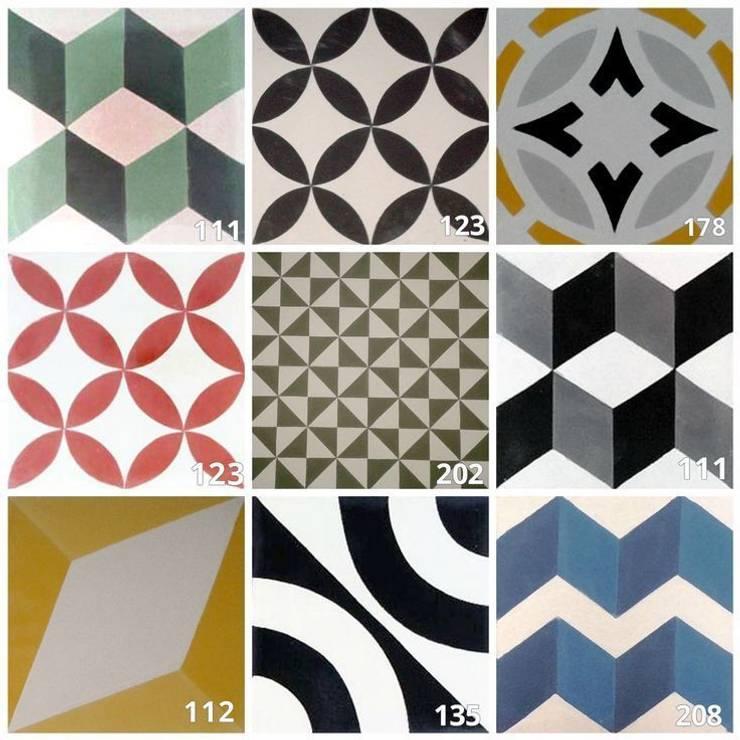 Geométrico: Paredes de estilo  de Suelos Hidráulicos Demosaica