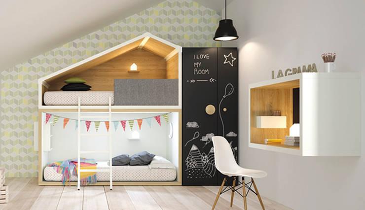 Litera Cottage: Habitaciones infantiles de estilo  de Yupih