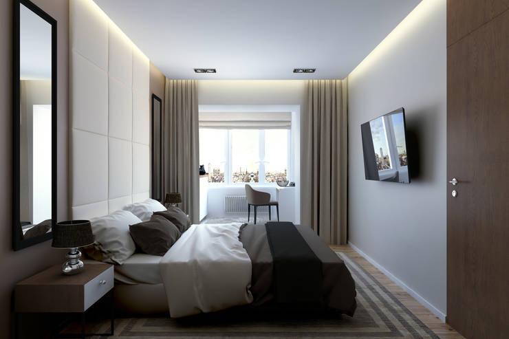 Квартира на Богатырском: Спальни в . Автор – Geometrium