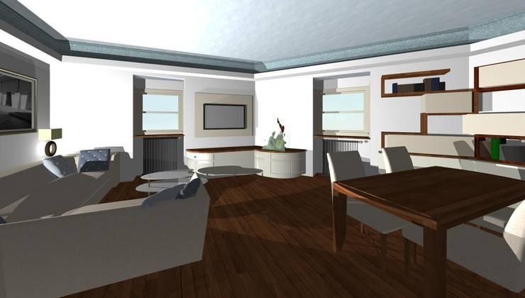 Giochi di luci nel soggiorno di studio design d interni frigerio
