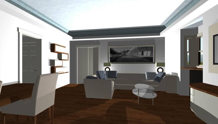 Giochi di luci nel soggiorno di studio design d 39 interni for Interni design studio