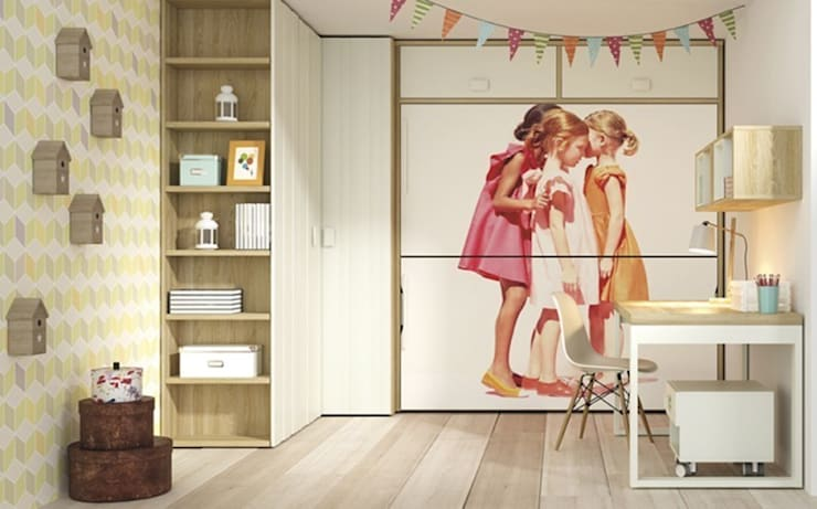 Camera da letto in stile in stile Moderno di Yupih