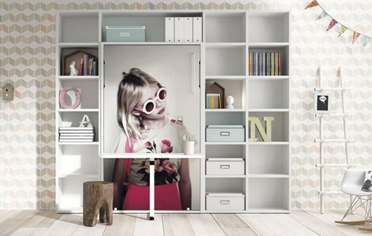 Camas abatibles Lagrama: Dormitorios de estilo moderno de Yupih