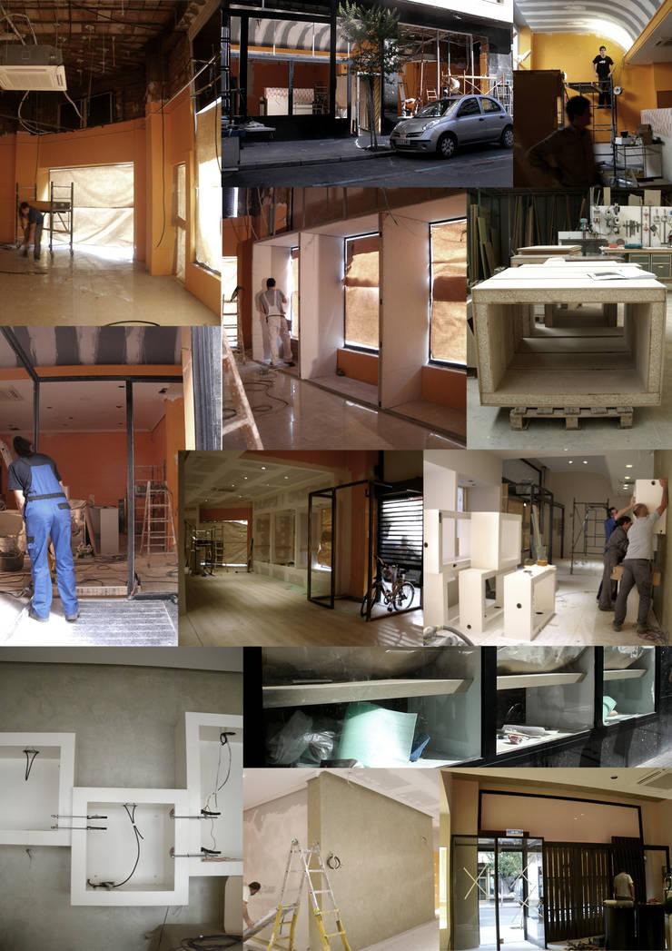Durante la ejecución en obra: Oficinas y Tiendas de estilo  de interior03