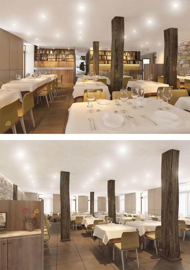 Infografía 3d interior: Locales gastronómicos de estilo  de interior03