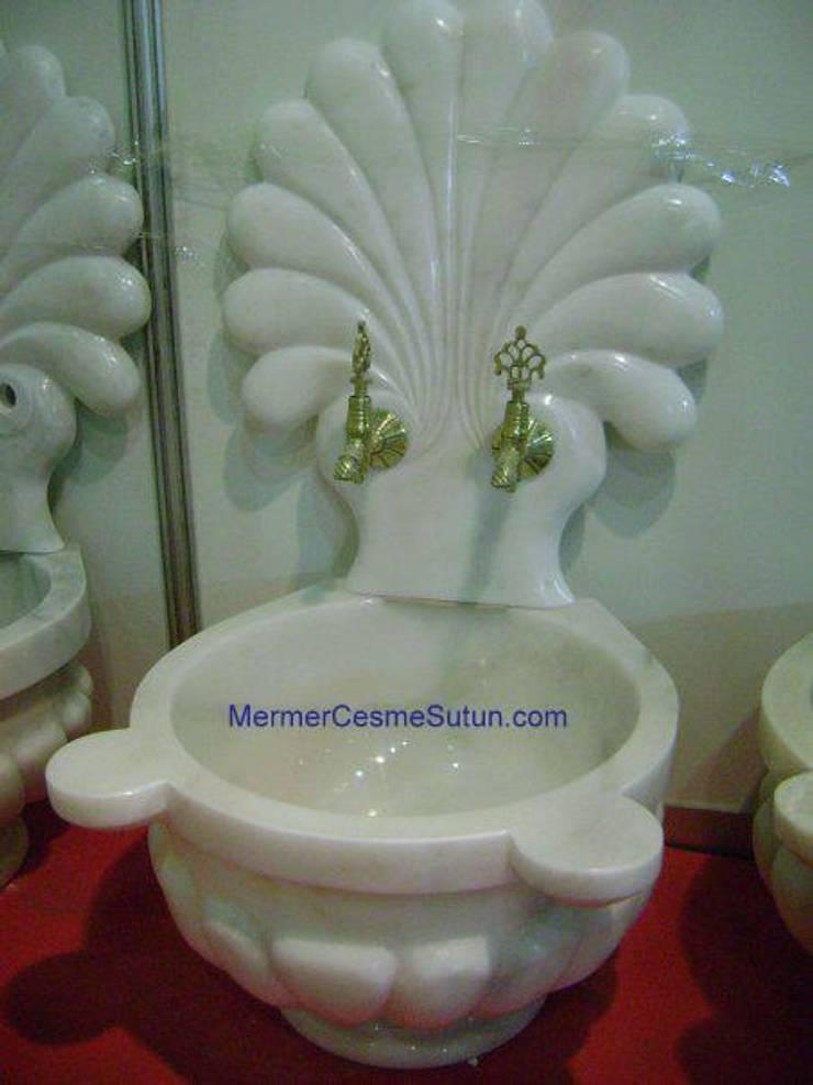 abahanoğlu mermer – aynalı kavun lilimli beyaz mermer kurna:  tarz