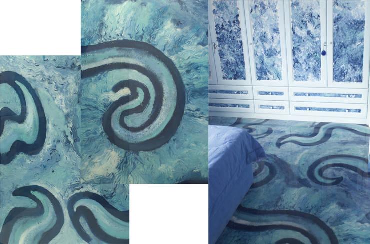 9.Camera da letto: Camera da letto in stile  di NOS Design
