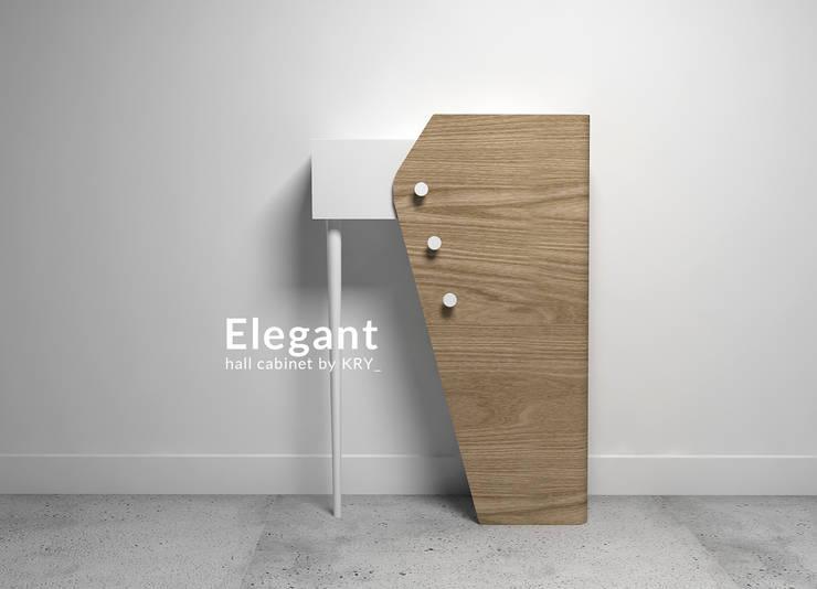 Elegancik: styl , w kategorii Korytarz, hol i schody zaprojektowany przez KRY_
