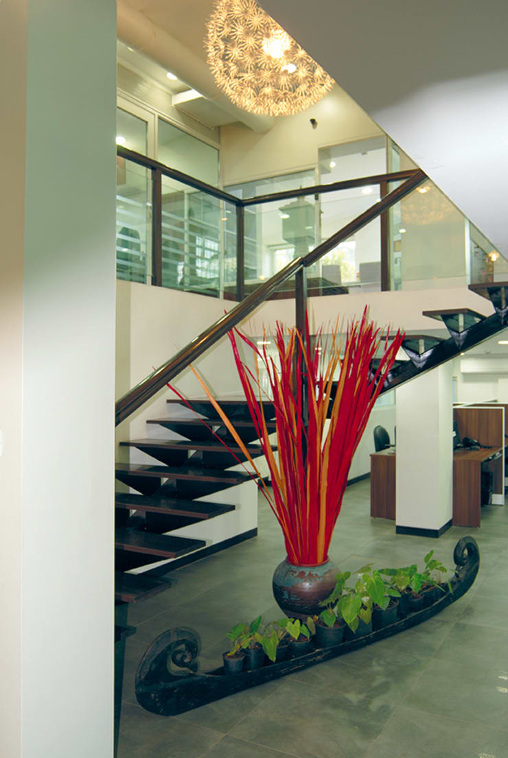 Precision corporate office :  Commercial Spaces by The Orange Lane