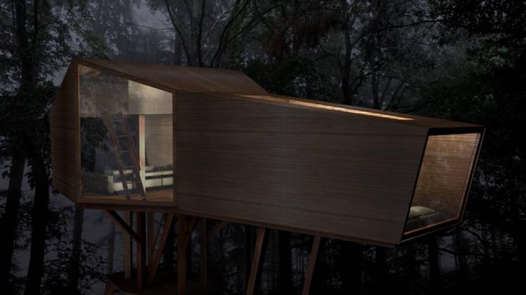 Inhabit Tree House, Woodstock, New York:  Houses by antonygibbondesigns