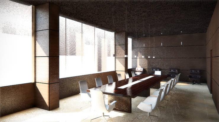 """Зал совещаний и переговоров. Москва. """"Блаудерман Бюро"""": Рабочий кабинет  в . Автор – Блаудерман Бюро"""