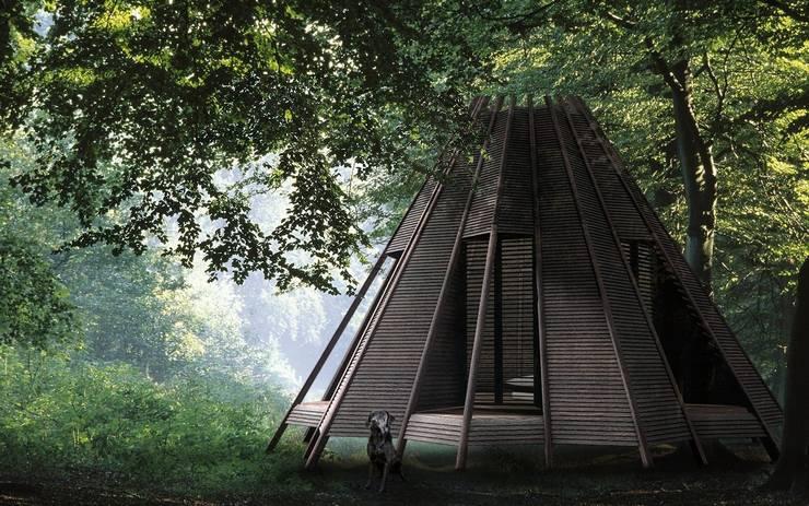 Projekty, rustykalne Domy zaprojektowane przez antonygibbondesigns
