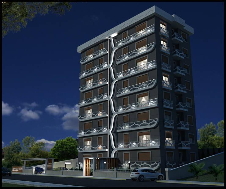 HERA Mimarlık & İçmimarlık  – EVDİYE KONUT PROJESİ:  tarz Evler