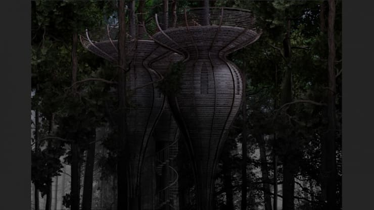 Roost Tree House:  Houses by antonygibbondesigns