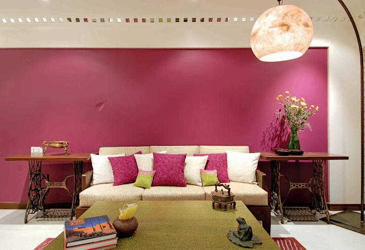 Colourful Living :  Living room by The Orange Lane