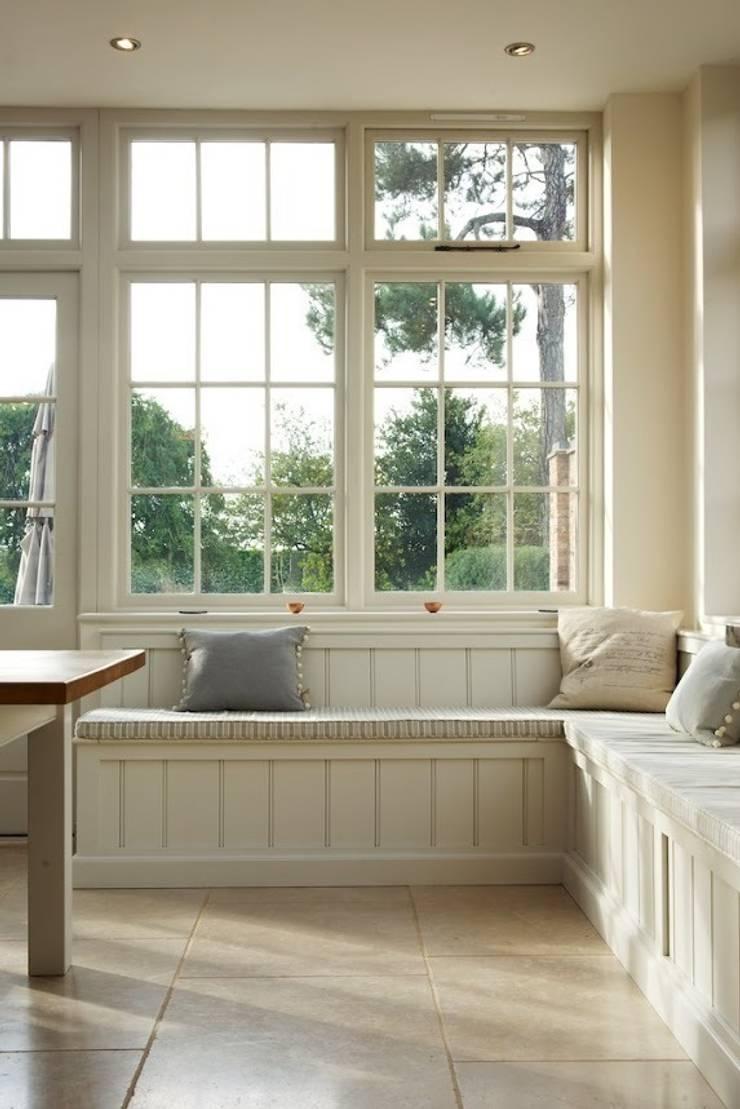 Dijon Tumbled Limestone - Window Seat:  Kitchen by Floors of Stone Ltd