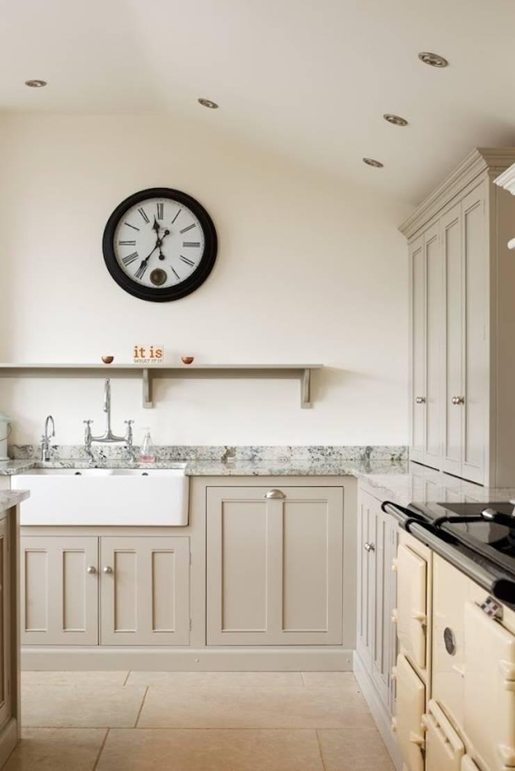 Dijon Tumbled Limestone :  Kitchen by Floors of Stone Ltd