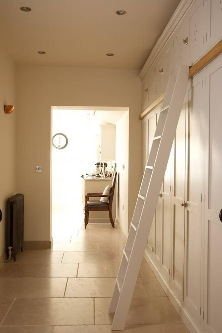 Dijon Tumbled Limestone - Hallway:  Corridor & hallway by Floors of Stone Ltd