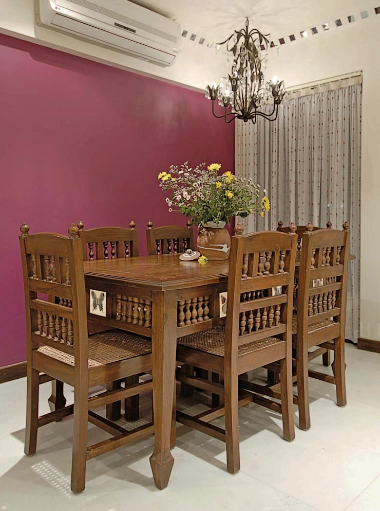 Colourful Living :  Dining room by The Orange Lane