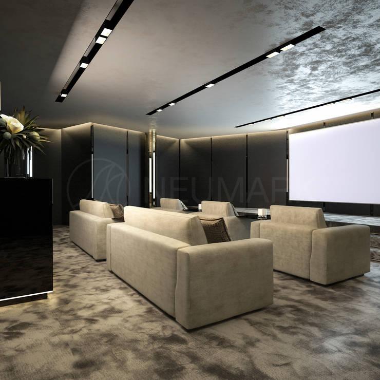 Media room by Марина Анисович, студия NEUMARK