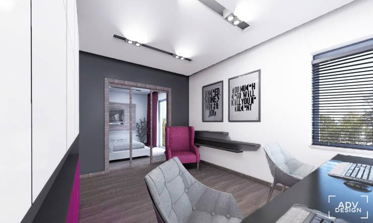 Przestrzeń prywatna - gabinet: styl , w kategorii Domowe biuro i gabinet zaprojektowany przez ADV Design