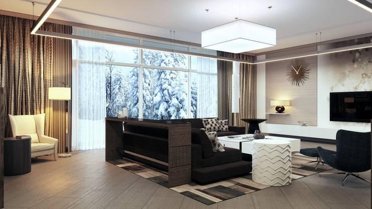 Moderne Wohnzimmer von Студия Искандарова Modern