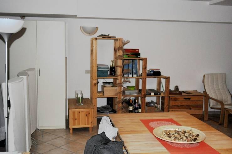 Zona pranzo prima: Sala da pranzo in stile in stile Moderno di LET'S HOME