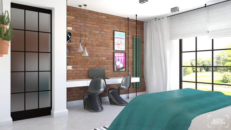 Część prywatna - sypialnia: styl , w kategorii Sypialnia zaprojektowany przez ADV Design,Industrialny