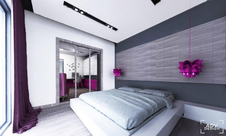 Przestrzeń prywatna - sypialnia: styl , w kategorii Sypialnia zaprojektowany przez ADV Design