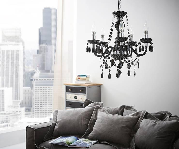Kronleuchter Karat 52x50 cm Schwarz Acrylglas 5-armig:  Wohnzimmer von DELIFE