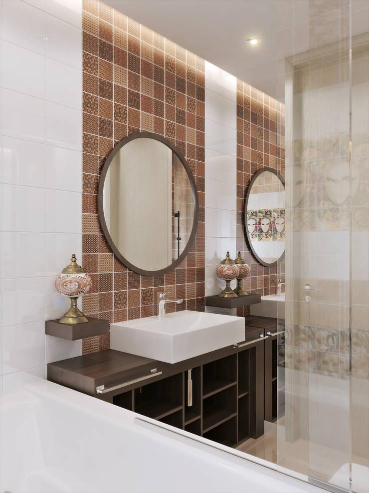 СТРОГОСТЬ КОНТРАСТА: Ванные комнаты в . Автор – GOODHOUZZ
