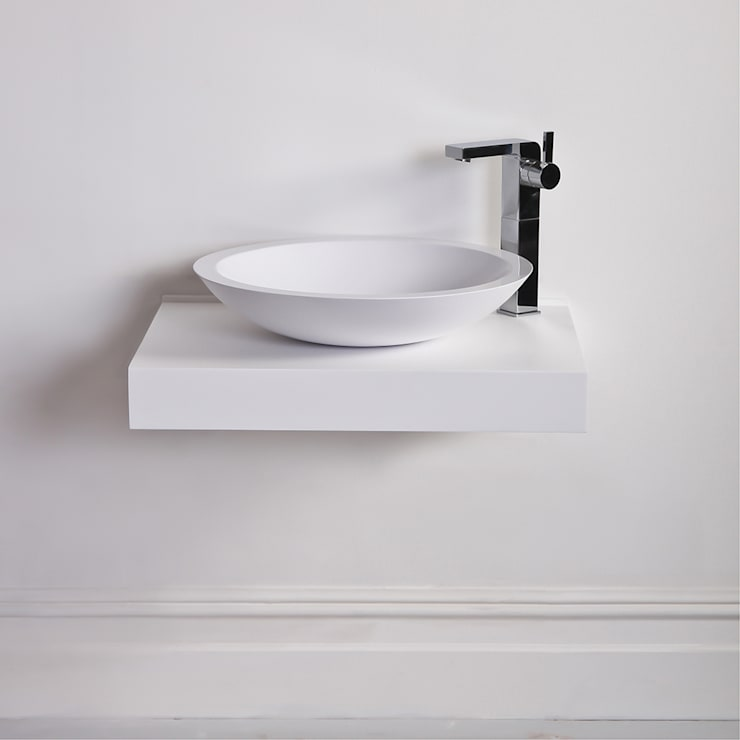 Lusso Stone Notion Solid surface stone resin counter top basin 515:  Bathroom by Lusso Stone