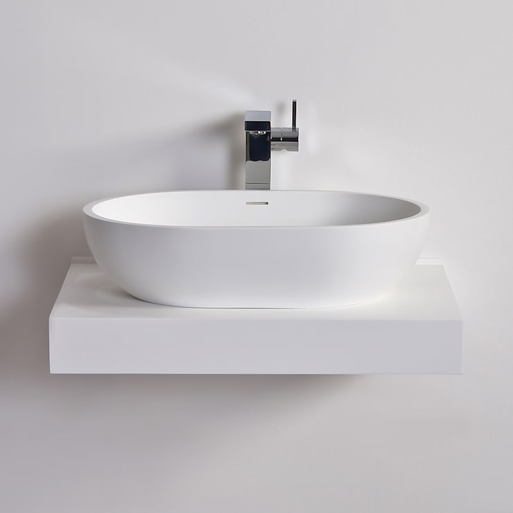 Lusso Stone picasso Solid surface stone resin counter top basin 580:  Bathroom by Lusso Stone