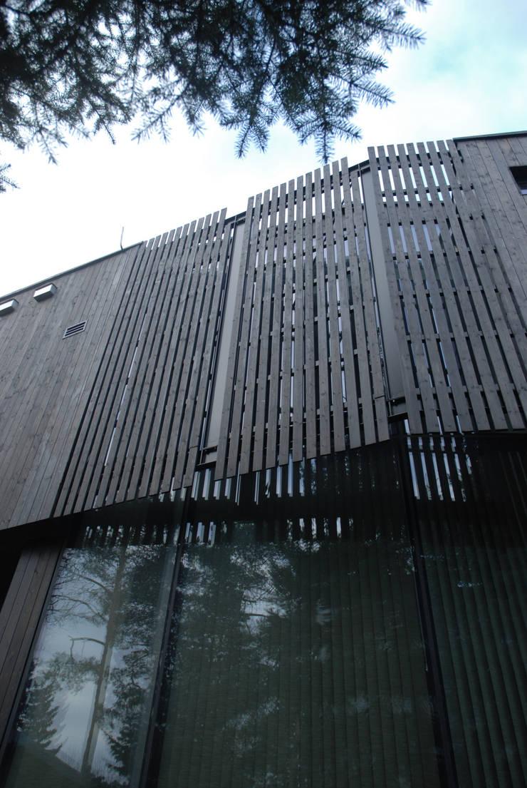 DOM POD DĘBEM: styl minimalistyczne, w kategorii Domy zaprojektowany przez SDA - SZCZEŚNIAK DENIER ARCHITEKCI