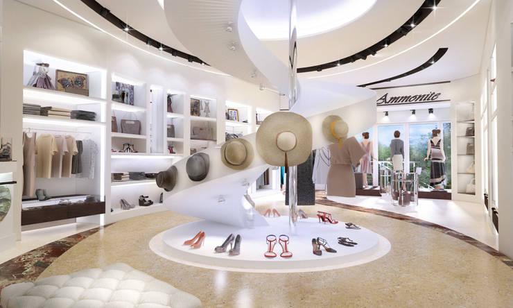 Магазин женской одежды в г. Геленджик: Коммерческие помещения в . Автор – Студия Ксении Седой