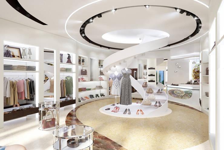 Магазин женской одежды: Коммерческие помещения в . Автор – Студия Ксении Седой