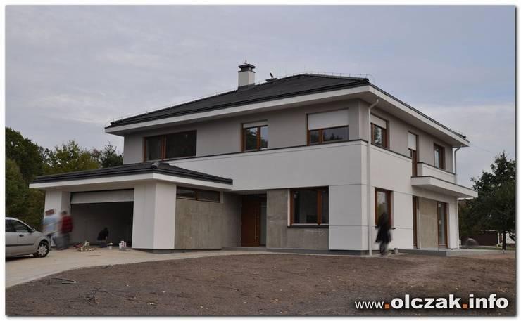 dom w Warszawie: styl , w kategorii  zaprojektowany przez OPS Architekt Maciej Olczak