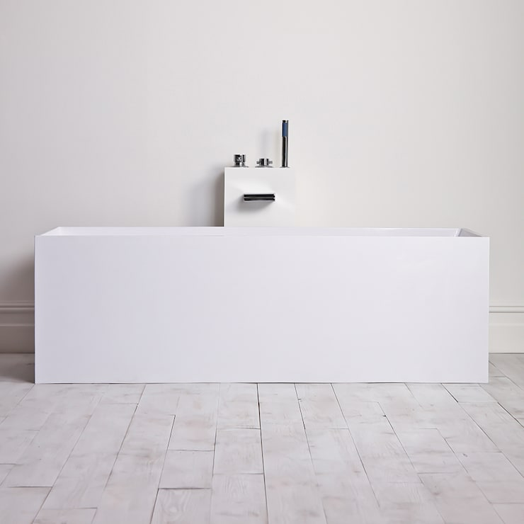 Lusso Stone Ethos Stone Resin Solid Surface Freestanding Bath 1700:  Bathroom by Lusso Stone